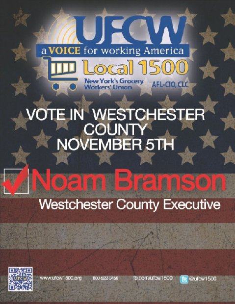 UFCW Local 1500, New York's largest grocery workers union, endorses Noam Bramson