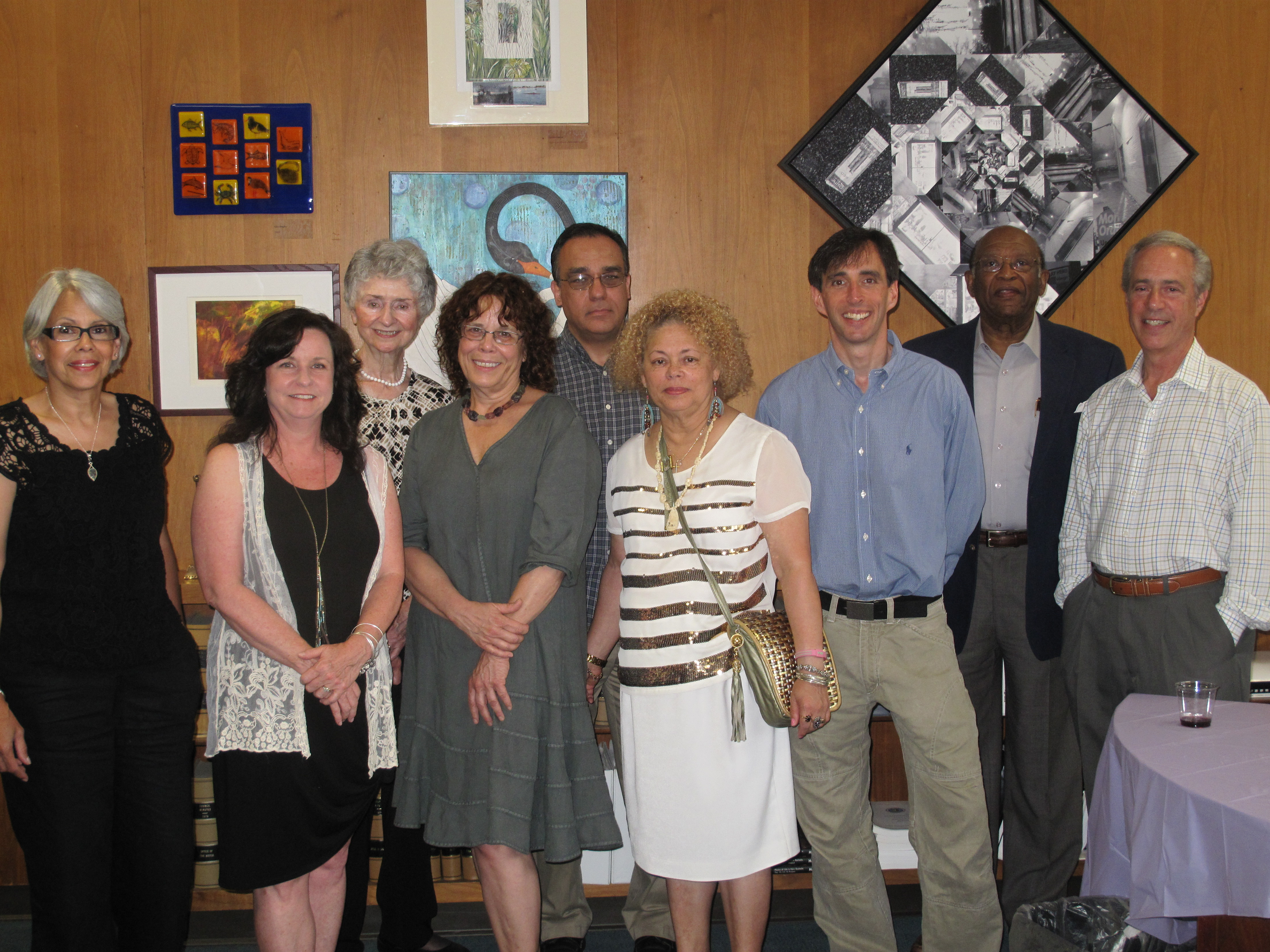 Thanking Artists at City Hall