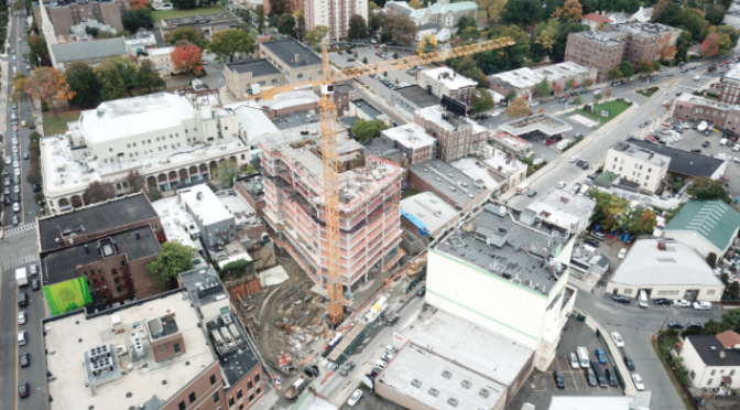 Aerial View of Downtown Construction