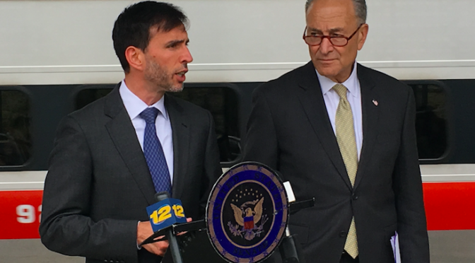 Schumer Touts Rail Safety in New Ro