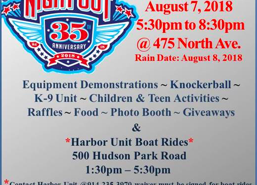 National Night Out on Tuesday, August 7th