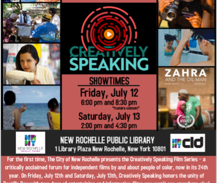 Creatively Speaking Film Series at New Ro Library